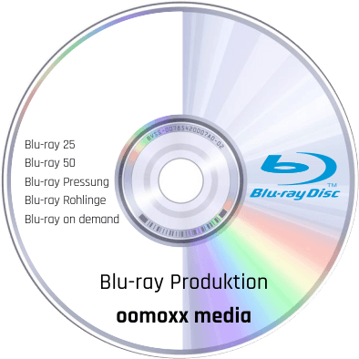 Blu-ray Produktion bei oomoxx media